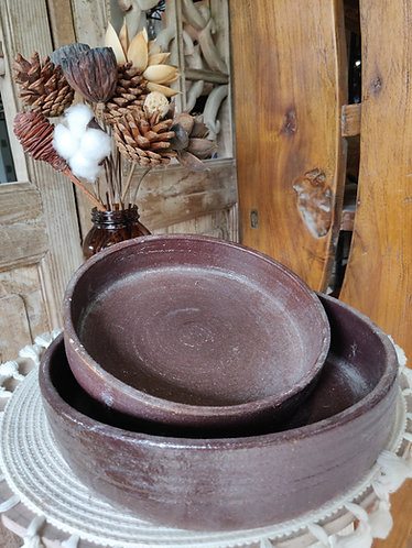 Toasted Brown Dish (2 Sizes)