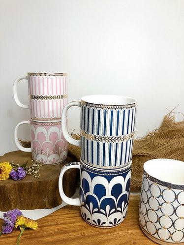 Gold rim cup (5 designs)