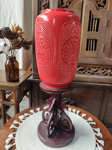 Oriental Red Table Lamp