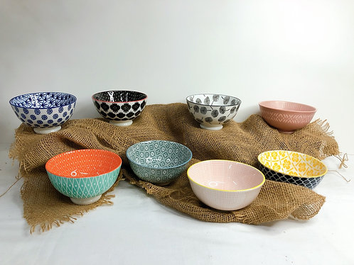 Double pattern rice bowls (8 designs)