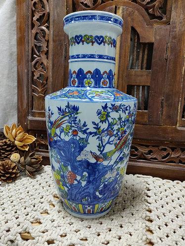 Blue Vibrant Forest Vase #2