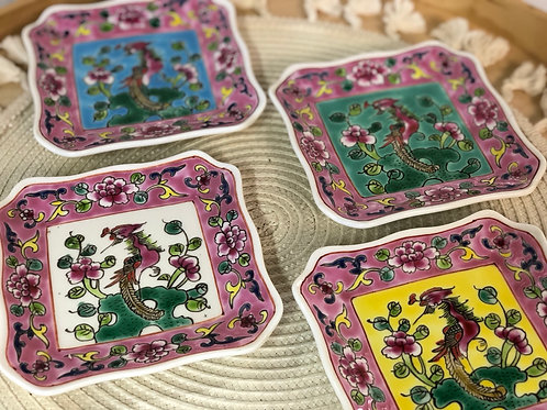 Peranakan side plate (4 colours)
