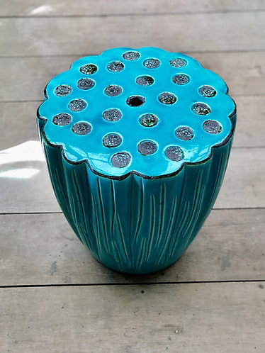 Lotus ceramics stool