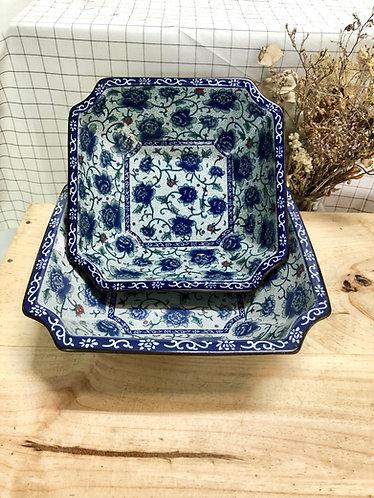 Peony hex. bowl (2 sizes)