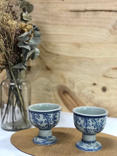 Blue & white Teapot set (with 2 cups)