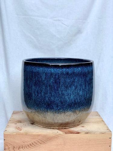 Outdoor blue glazed pot  (4 sizes)