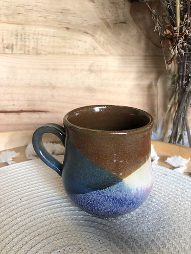 Cross glaze fat bottom cup