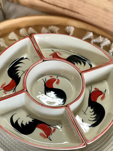 Rooster 5 pieces platter
