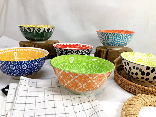 Double pattern M bowls (6 designs)