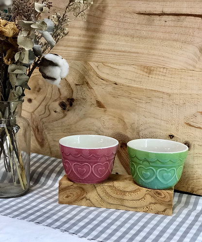 Bowl with heart design (2 colours)
