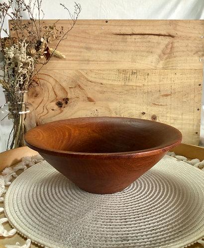 Wooden V shape bowl