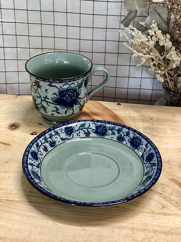 Peony cup and saucer