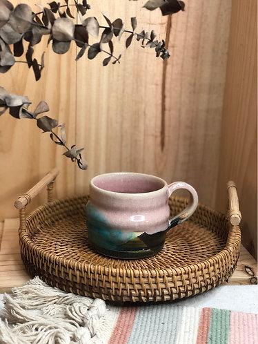 Pink x milky wave cup (Let it flow ~)