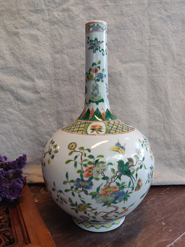 Singing Birds Long Neck Vase