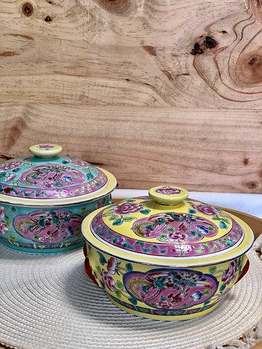Peranakan Round Casserole (2 colours)