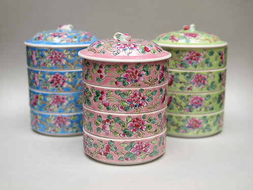 Peranakan Floral Tiffin (8 colours)