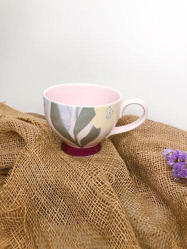 Pink x floral mug