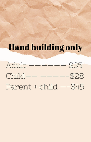 Hand building only