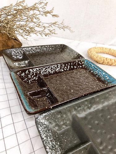 Rectangle matt x glossy 3 in 1 platter ( 3 Colours)