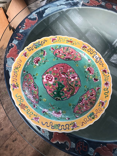 Peranakan huge plate (2 colours)