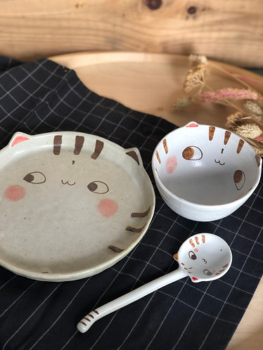 Cat series | Bowl, Plate & Spoon