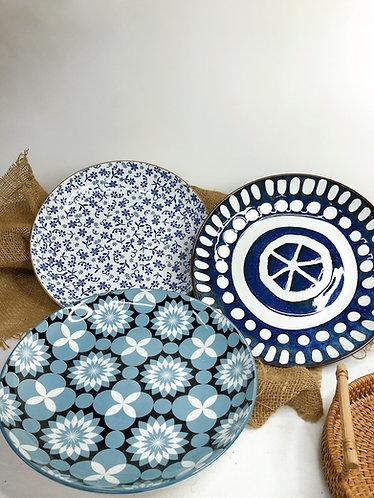 Shallow printed bowl (3 designs)