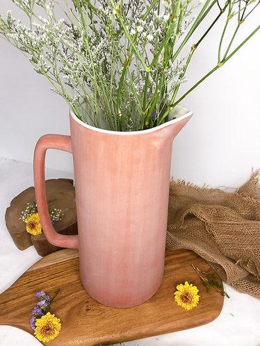 Terracotta x inner white jug