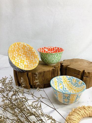 Double pattern x ice cream bowl (3 designs)