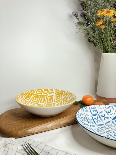 Shallow bowl with prints (7 designs)