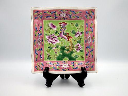 Peranakan square framed plate