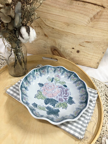 Wavy floral plate (2 sizes)