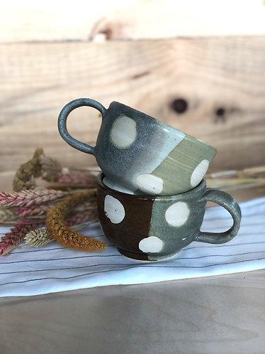 Handmade polka dots cup