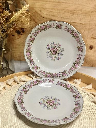 Floral printed plate