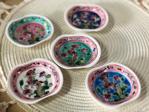 Peranakan mini plate (5 colours)