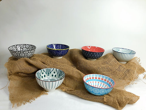 Double pattern rice bowls (10 designs)