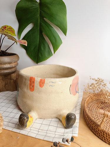 Handbuilt x silly pot