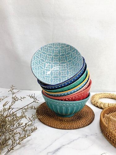 Texture x print M bowls (7 designs)