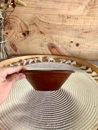 Wooden mini V shape bowl