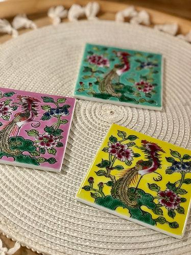 Peranakan tile / coaster (3 colours)