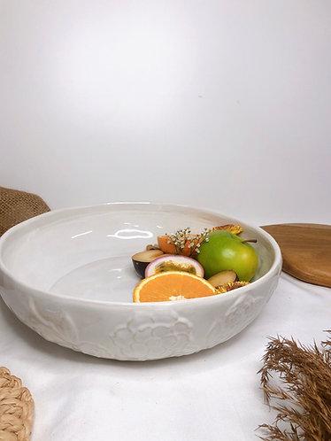 Floral carved big bowl