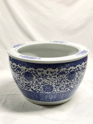 Blue and white floral #1 bowl