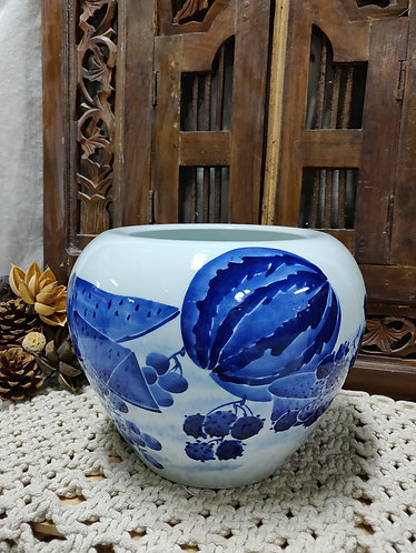 Blue White Fruit Vase