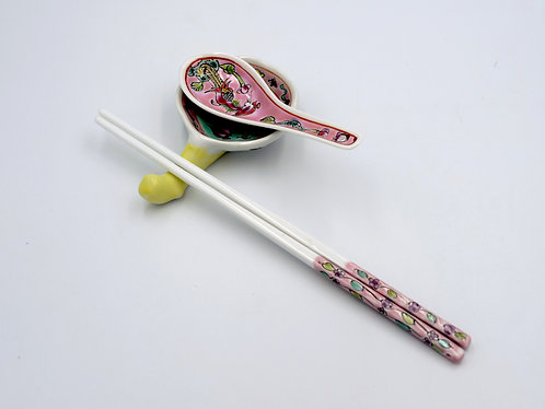 Peranakan chopstick & spoon rest