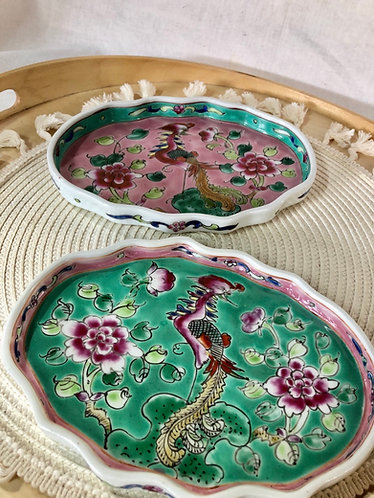 Peranakan cloud plate (2 colours)