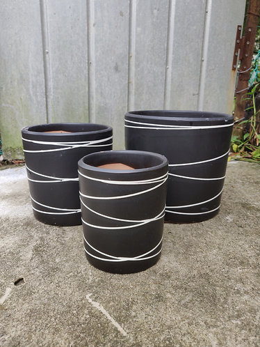 Running Lines Pot (3 Sizes)