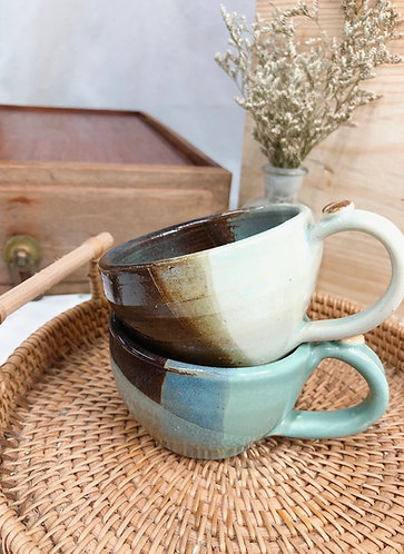 161ml - 169ml | brown cup with bean ( 2 designs)