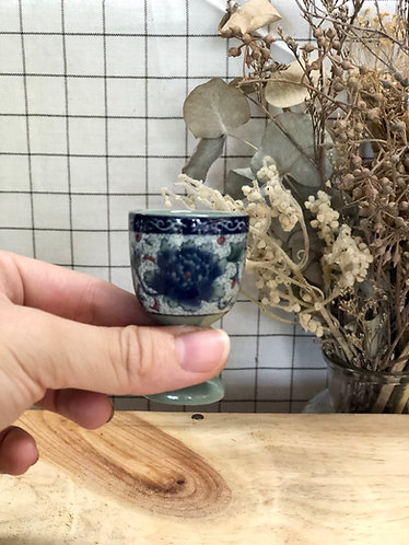 Peony sake cup
