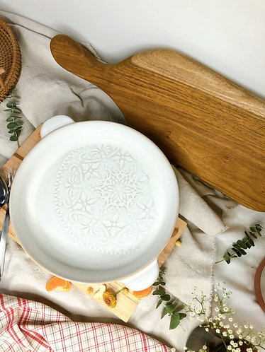 Floral Pie dish with handles