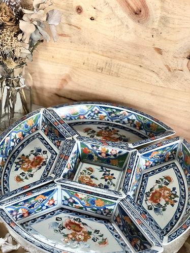 Floral 5 pieces platter