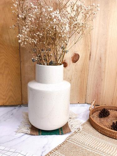 White x speckled vase